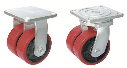 NEW Pack of 2-31Mm Heavy Duty Peg Fix Single Caster Dolly Wheel Swivel Castors